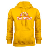 Gold Fleece Hoodie-Back-to-Back-to-Back GLIAC Champions Volleyball