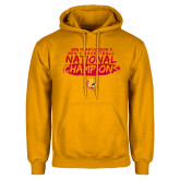 Gold Fleece Hoodie-2018 NCAA Mens Basketball National Champions - Brush