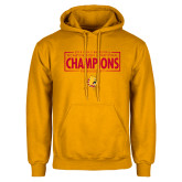Gold Fleece Hoodie-2018 NCAA Mens Basketball National Champions - Box