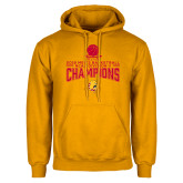 Gold Fleece Hoodie-2018 NCAA Mens Basketball National Champions - Stacked