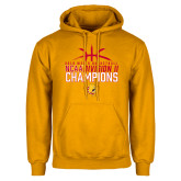 Gold Fleece Hoodie-2018 NCAA Mens Basketball National Champions - Basketball