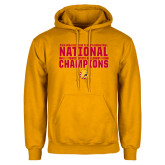 Gold Fleece Hoodie-2018 NCAA Mens Basketball National Champions - Bar
