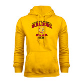 Gold Fleece Hoodie-Bulldogs Est. 1884 Arched