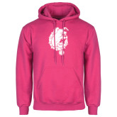 Fuchsia Fleece Hood-Bulldog Head