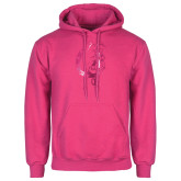 Fuchsia Fleece Hood-Bulldog Head Foil