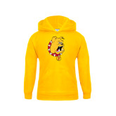 Youth Gold Fleece Hood-Bulldog Head