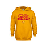 Youth Gold Fleece Hoodie-2018 NCAA Mens Basketball National Champions - Brush