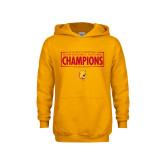 Youth Gold Fleece Hoodie-2018 NCAA Mens Basketball National Champions - Box