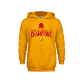 Youth Gold Fleece Hoodie-2018 NCAA Mens Basketball National Champions - Stacked