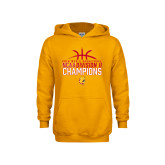Youth Gold Fleece Hoodie-2018 NCAA Mens Basketball National Champions - Basketball