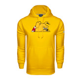 Under Armour Gold Performance Sweats Team Hoodie-Bulldog Head Peeking