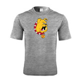 Performance Grey Heather Contender Tee-Bulldog Head