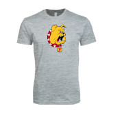 Next Level SoftStyle Heather Grey T Shirt-Bulldog Head