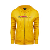 ENZA Ladies Gold Fleece Full Zip Hoodie-#FerrisStrong