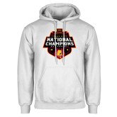White Fleece Hoodie-2018 NCAA Mens Basketball National Champions