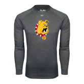 Under Armour Carbon Heather Long Sleeve Tech Tee-Bulldog Head