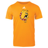Adidas Gold Logo T Shirt-Bulldog Head