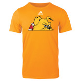 Adidas Gold Logo T Shirt-Bulldog Head Peeking