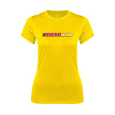 Ladies Syntrel Performance Gold Tee-#FerrisStrong