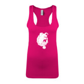 Next Level Ladies Raspberry Ideal Racerback Tank-Bulldog Head