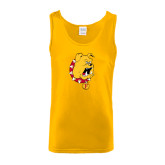 Gold Tank Top-Bulldog Head