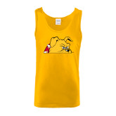 Gold Tank Top-Bulldog Head Peeking