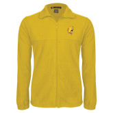 Fleece Full Zip Gold Jacket-Bulldog Head
