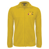 Fleece Full Zip Gold Jacket-Bulldog Head Peeking
