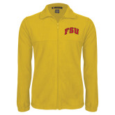 Fleece Full Zip Gold Jacket-Arched FSU