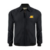 Black Players Jacket-Bulldog Head Peeking