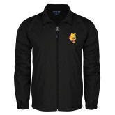 Full Zip Black Wind Jacket-Bulldog Head