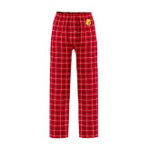 Red/Black Flannel Pajama Pant-Bulldog Head