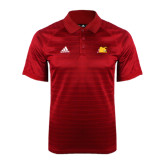 Adidas Climalite Red Jaquard Select Polo-Bulldog Head Peeking