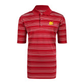 Adidas Climalite Red Textured Stripe Polo-Bulldog Head Peeking