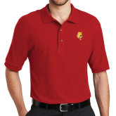 Red Easycare Pique Polo-Bulldog Head