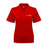 Ladies Easycare Red Pique Polo-#FerrisStrong
