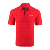 Red Horizontal Textured Polo-#FerrisStrong