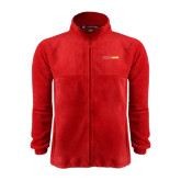 Fleece Full Zip Red Jacket-#FerrisStrong