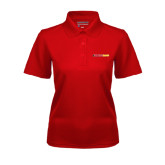 Ladies Red Dry Mesh Polo-#FerrisStrong