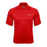 Red Textured Saddle Shoulder Polo-#FerrisStrong