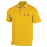 Under Armour Gold Performance Polo-Bulldog Head Peeking