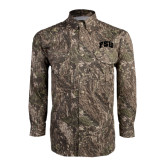 Camo Long Sleeve Performance Fishing Shirt-Arched FSU