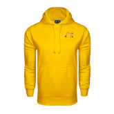 Under Armour Gold Performance Sweats Team Hood-Bulldog Head Peeking
