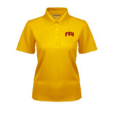 Ladies Gold Dry Mesh Polo-Arched FSU