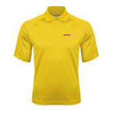 Gold Textured Saddle Shoulder Polo-#FerrisStrong