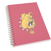 Clear 7 x 10 Spiral Journal Notebook-Bulldog Head