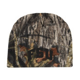 Mossy Oak Camo Fleece Beanie-Arched FSU
