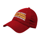 Red Twill Unstructured Low Profile Hat-2018 NCAA Mens Basketball National Champions