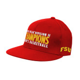 Red OttoFlex Flat Bill Pro Style Hat-2018 NCAA Mens Basketball National Champions - Bar