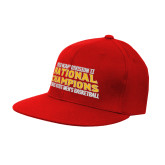 Red OttoFlex Flat Bill Pro Style Hat-2018 NCAA Mens Basketball National Champions